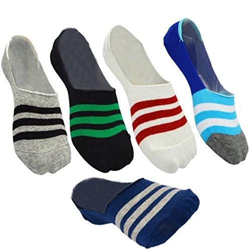 【5足セット】メンズ フットカバー ソックスインビジブルソックス 淺口 靴下 滑り止め 浅履き 表綿100% 爽やかな履き心地 お洒落で