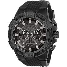 Invicta Men's Star Wars Stainless Steel Quartz Watch with Silicone Strap, Black, 32 (Model: 26268)