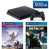 PlayStation 4 + Detroit: Become Human + Horizon Zero Dawn Complete Edition セット (ジェット・ブラック) (CUH-2200AB01)【特典】オリジナルカスタムテーマ(配信)
