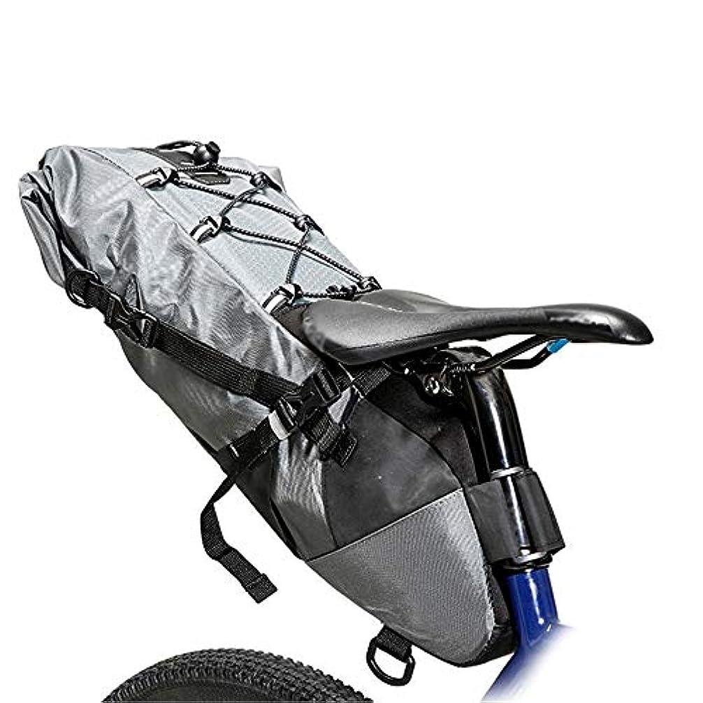 適応する接続された記者自転車用サドルバッグ 自転車シートサドルパニエ収納袋3-10 l大容量プロフェッショナルロードバイクバッグ用ロングタイムサイクリング MBTまたはロードバイクシート用 (Color : Grey, Size : 3L-10L)
