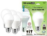 MiracleLED 605019–5超セーバー5-wattクールホワイト電球、5- Pack