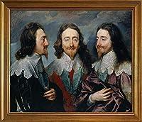 古典フレーム Anthony Van Dyck ジクレープリント キャンバス 印刷 複製画 絵画 ポスター(チャールズ・アイ)