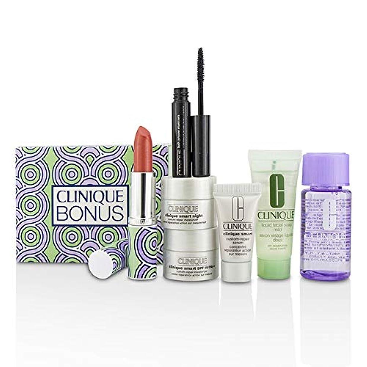 アーチ猟犬石のクリニーク Bonus Travel Set: M/U Remover + Facial Soap + Repair Serum + 2x Moisturizer + Mascara + Lip Color 7pcs並行輸入品
