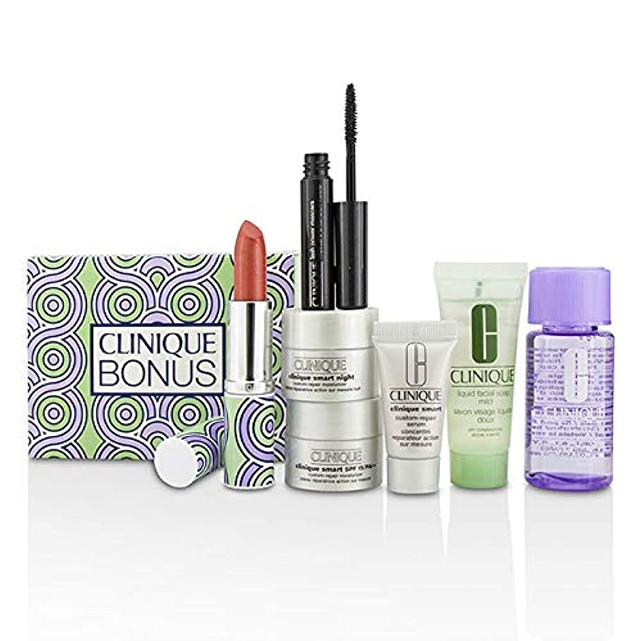 定規影のある欲望クリニーク Bonus Travel Set: M/U Remover + Facial Soap + Repair Serum + 2x Moisturizer + Mascara + Lip Color 7pcs並行輸入品