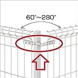 三協アルミ メッシュフェンスJE型 コーナー部品セット JE1-CB06-10 ※60~280°に対応します 【スチールフェンス 柵】  サンシルバー