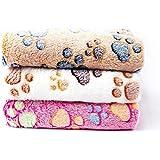 "Pet Soft Pet Dog Blanket Super Absobent Fabri, Cute Pattern (Medium (3020""), Paw-3 Pieces)"