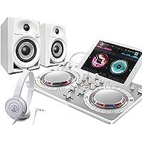PIONEER DJスタートセット DDJ-WEGO4-W + DM-40 + ATH-S100(DJコントローラー + スピーカー + ヘッドホン) (ホワイト)