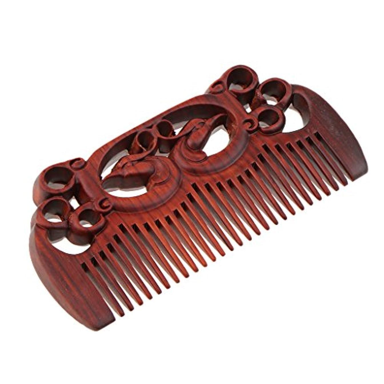 スカウトパテ枯れるSM SunniMix 木製コーム ウッドコーム ワイド歯 ヘアブラシ 頭皮マッサージ ヘアスタイリング 全2種類 - #1