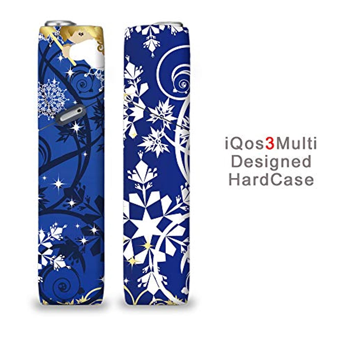 完全国内受注生産 iQOS3マルチ用 アイコス3マルチ用 熱転写全面印刷 天使のイラスト 加熱式タバコ 電子タバコ 禁煙サポート アクセサリー プラスティックケース ハードケース 日本製