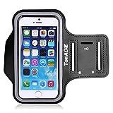 【TopAce】アームバンド ケース カバースポーツ ランニング用 軽量で通気性が良い iPod touch 6世代対応(ブラック)