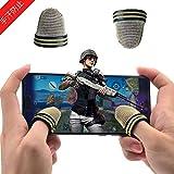 2個 荒野行動 PUBG Mobile スマホ用指サック(汗を防ぐ)(高感度)(通気性がいいです)超薄 銀繊維 ゲーム指セット全機種対応
