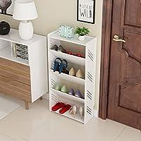 靴のラック防塵彫刻された単純な多層無垢材家庭のリビングルーム経済タイプシューズラック (設計 : B3)