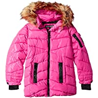 Steve Madden Girls O_A1102H Memory Signature Puffer Jacket Hooded Down Alternative Coat