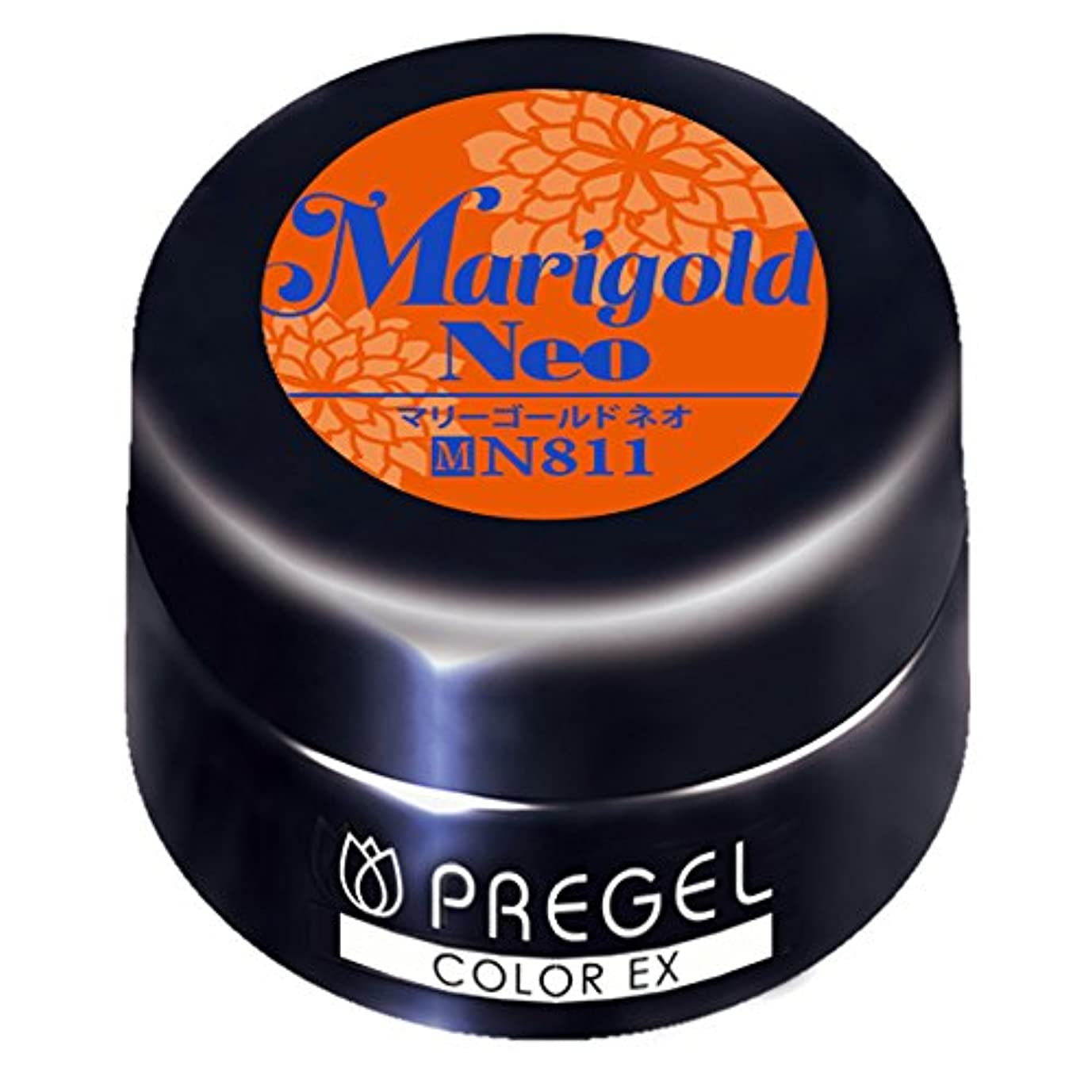 年次ペチュランス抑制するPRE GEL カラーEX マリーゴールドneo 811 3g UV/LED対応