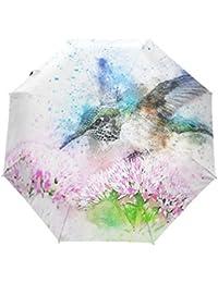折り畳み傘 自動開閉ワンタッチ 傘 折りたたみ傘 レディース 子供 耐強風 軽量 撥水加工 超撥水 紫外線カット 晴雨兼用 収納ケース付き 花 鳥