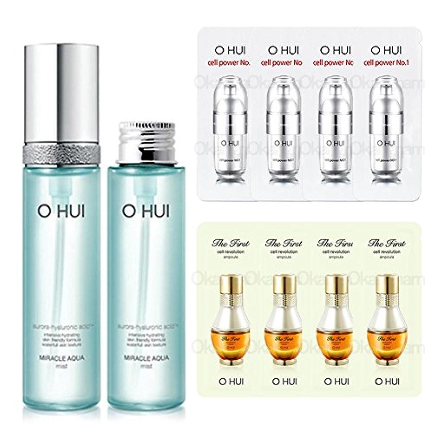 とてもスクレーパースプレー[オフィ/ O HUI]韓国化粧品 LG生活健康/ OHUI OMA05 Miracle Aqua Mist/ミラクルアクアミスト50mlx2個 +[Sample Gift](海外直送品)