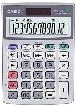 カシオ スタンダード電卓 時間・税計算 ミニジャストタイプ 12桁 MW-12GT-N