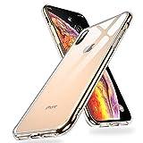 【Humixx】iPhone Xs ケース iPhone X ケース 背面ガラスケース 5.8インチ 対応 ストラップホール付き レンズ保護 滑り止め[Crystal Series] (クリア)