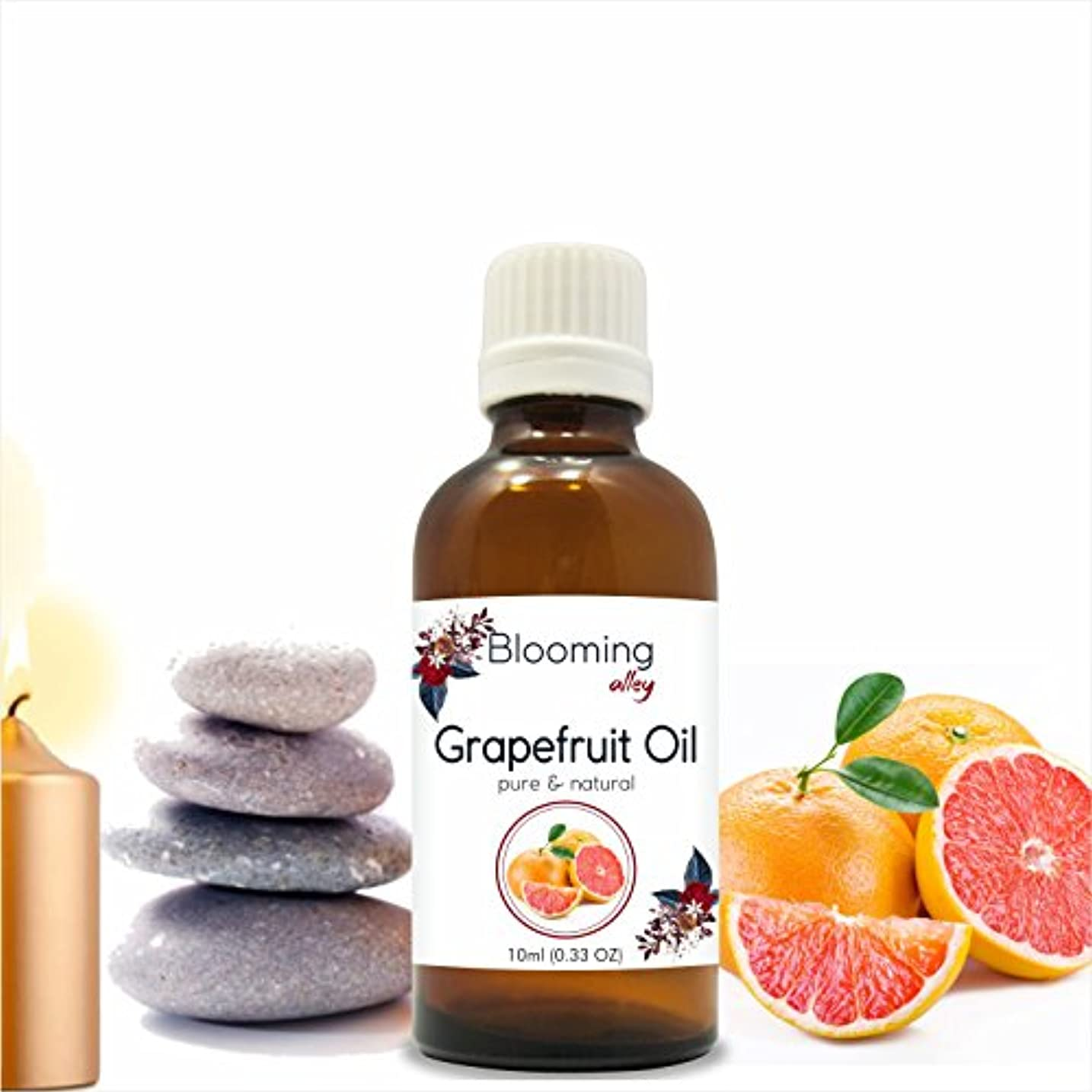 強い削減富Grapefruit Oil (Citrus Paradisi) Essential Oil 10 ml or 0.33 Fl Oz by Blooming Alley