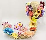 塔の上のラプンツェル ラプンツェル ウィッグ 花飾り セット コスチューム 大人用