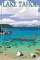 Lake Tahoe–Kayakers in Secret Cove 12 x 18 Art Print LANT-46391-12x18