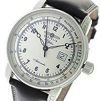 ツェッペリン ZEPPELIN 100周年記念モデル 自動巻き メンズ 腕時計 7654-4 シルバー/ダークブラウン [並行輸入品]