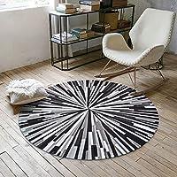 ラグ・カーペット ラウンドショートベルベットのカーペット、洗える家庭用コンピュータチェアマット、幾何学的滑り止めカーペット (色 : B, サイズ さいず : 120cm)