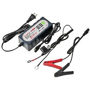 (STRAIGHT/ストレート) バッテリー充電器 バイク・自動車兼用 トリクル充電/サルフェーション解消機能付き 17-114
