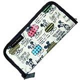 ミッキー カトラリーケース かわいい さまざまな ポケット 収納 持ち運び に 便利 人気 総柄 (ミッキーカトラリーケース)
