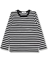 (コマンス)commencer子供服 ボーダー長袖066 Tシャツ 100-160cm 男の子 女の子 キッズ カットソートップス