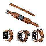 一つで三役 N.ORANIE Apple Watch 本革 バンド Apple Watch 2 交換ベルト 4本セット 手作り 高級本革腕時計 ストラップ 38mm ブラウン