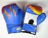 macaroni(マカロニ) キッズ 子供用 ボクシング グローブ 左右セット 内側 メッシュ タイプ 練習用 ボクササイズ (3 ブルー)