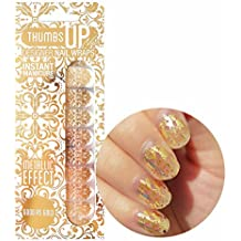 Good as Gold Metallic Nail Wraps by ThumbsUp Nails/Self-adhesive/Nail Foil Polish Strips/Full Coverage Nail Art Stickers / 20 Wraps Per Pack