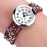 ecosin ®レディースWatchesクオーツデジタル腕時計ブレスレットラウンド宝石腕時計ダイヤモンド