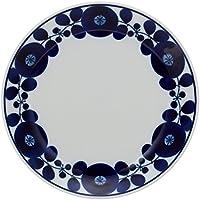白山陶器 プレート(M) 青 (約)φ19.5cm  ブルーム リース BLOOM 波佐見焼 日本製