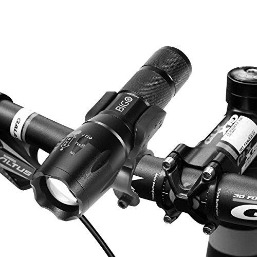 BIGO 【専門店】純正 懐中電灯 自転車ライト 小型 LED 高輝度 ハンディライト 防水防災 フラッシュライト 5モード
