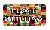 I Love Quiltingライセンスプレートlp1033