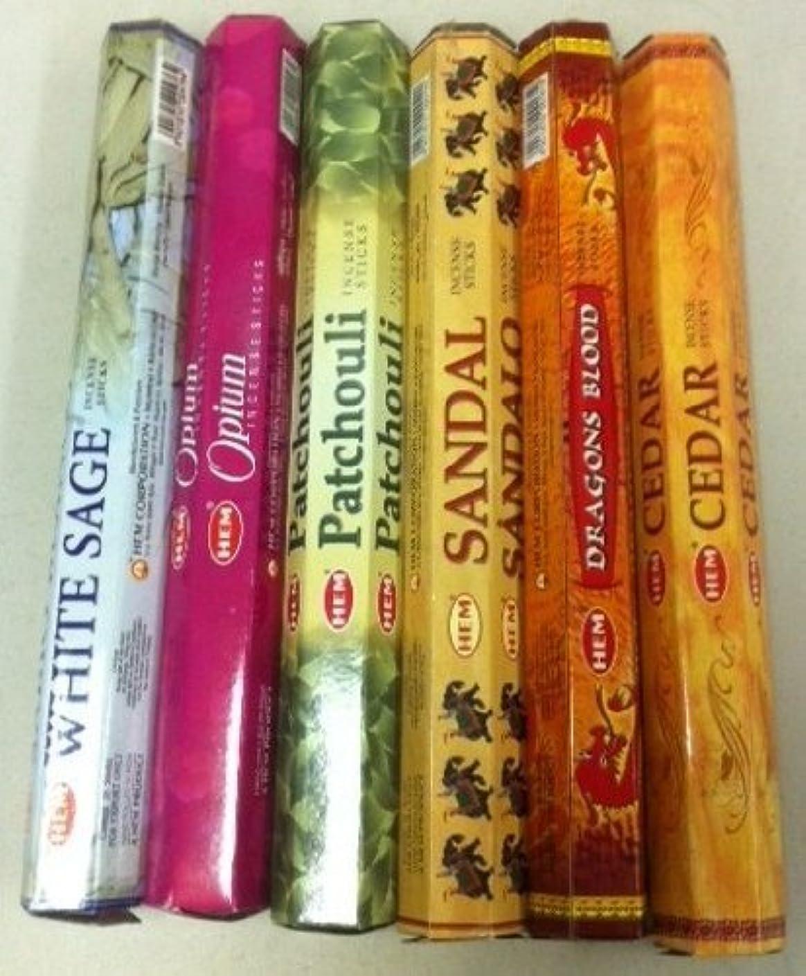 スピーチインタラクション科学Hemお香Best Sellers 6ボックスX 20グラム、合計120 gm