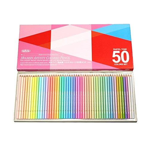ホルベイン アーチスト色鉛筆 50色セット パステルトーン