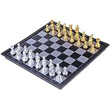 若い、軽量、金色、銀色、大の子供用折りたたみ式ボード付きトラベル磁気チェス