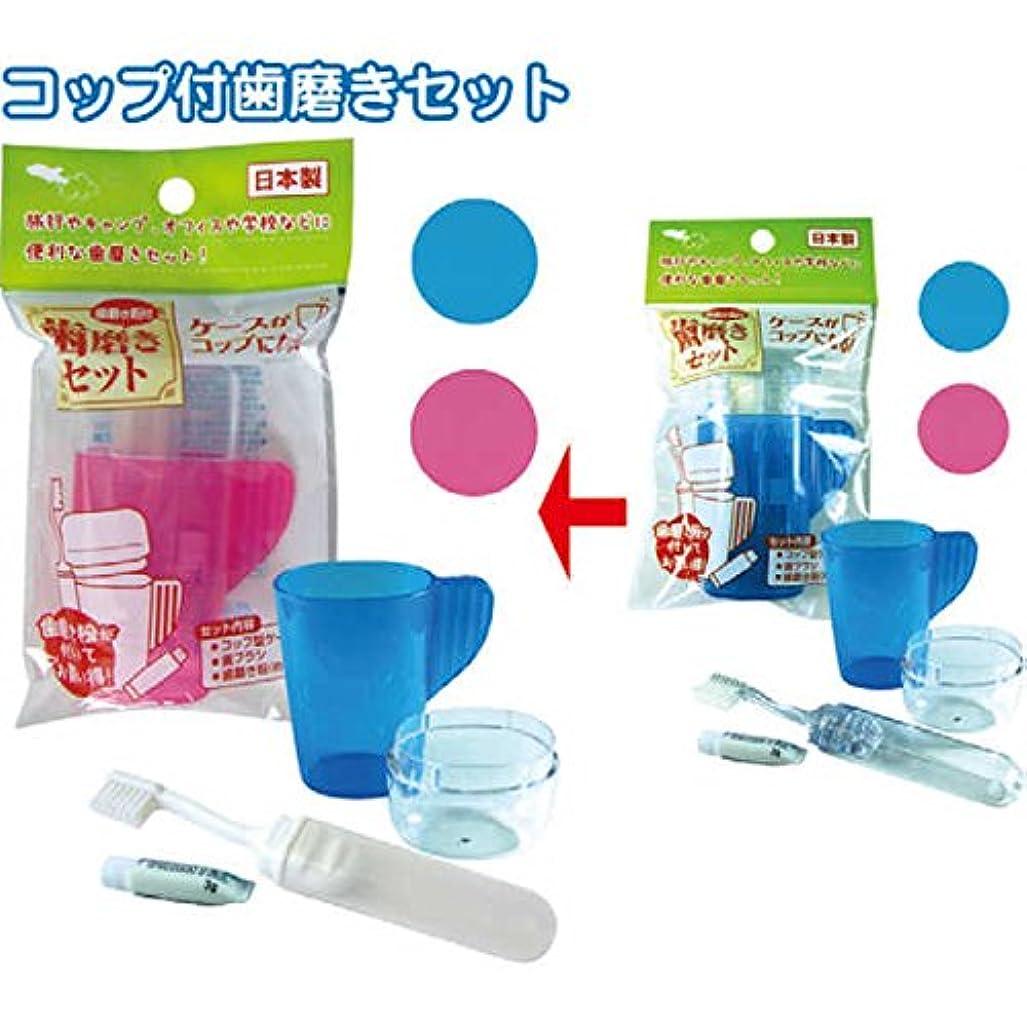 コップ型ケース?ハブラシ?歯磨き粉セット日本製 japan 【まとめ買い12個セット】 41-084