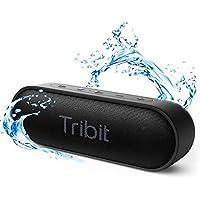 【2020年最新型】Tribit XSound Go Bluetooth スピーカー IPX7完全防水 ポータブルスピーカー 24時間連続再生 Bluetooth5.0 ブルートゥーススピーカー TWS対応 低音強化/内蔵マイク搭載 ブラック