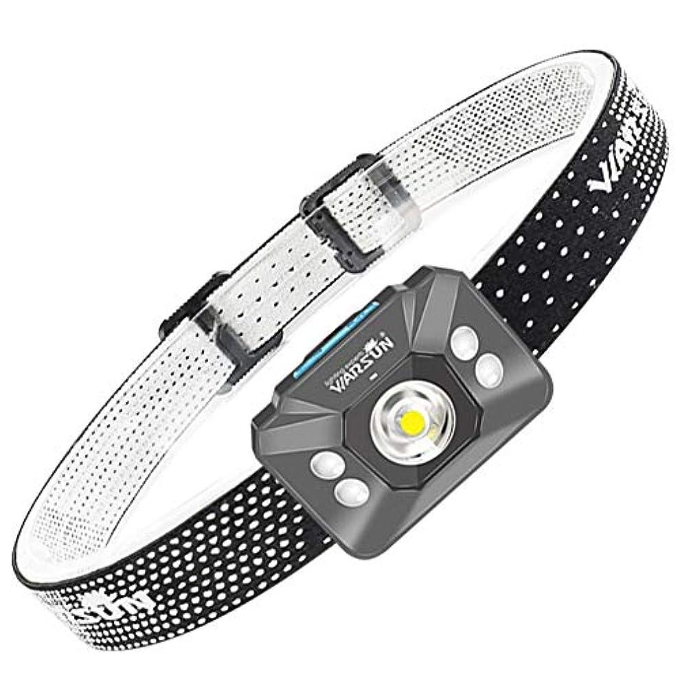 卵落ち着く傑出したヘッドライト,屋外多機能ミニ登山防水ロングショットスーパーブライトヘッドライト