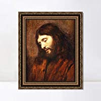 """Framed Canvas Art Giclee Print Series#040 by Rembrandt Harmenszoon van Rijn Wall Art Living Room Home Office Decorations(Vintage Embossed Gold frame,20""""x24"""")"""