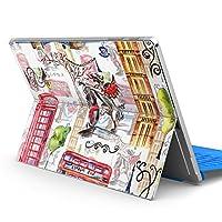 Surface pro6 pro2017 pro4 専用スキンシール サーフェス ノートブック ノートパソコン カバー ケース フィルム ステッカー アクセサリー 保護 ロンドン イギリス 外国 イラスト 014848