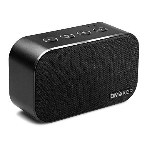 Omaker M7 Bluetoothスピーカー TWS機能対応 SDカード 手のひらサイズながら6Wデュアルドライバー搭載 迫力あるサラウンドを再生可能なワイヤレススピーカー (20m通信距離/10時間/マイク内蔵/ハンズフリー)ブラック