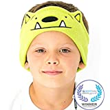 (GREEN MONSTER) - CozyPhones Kids Headphones. Comfy Headband Earphones, Light as Air and Great for Travel, Comes in Kid Friendly Animal and Anime Designs and Cute Colours like Green, Blue and Purple - WHATIF MONSTER
