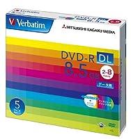 (まとめ買い) 三菱化学メディア Verbatim DVD-R DL 8.5GB 1回記録用 2-8倍速 5mmケース 5枚パック DHR85HP5V1 【×3】