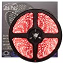 ぶーぶーマテリアル 色が綺麗なLEDテープ レッド 赤 300 LED 白ベース 5m 12V 防水