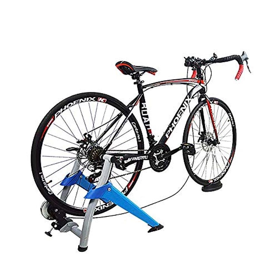 識別授業料タップ自転車トレーナー、屋内自転車トレーナー屋内エクササイズ自転車磁気トレーナースタンド磁気抵抗により、自転車でワークアウトできます